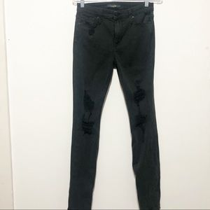 Joe's Jeans High Rise Skinny Jeans Distressed 29